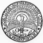 """Das Siegel von 1928 der Freimaurerloge """"Aufwärts zum Licht"""" in Frankfurt am Main."""