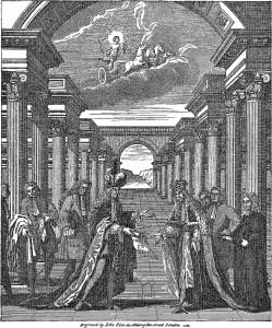 """Titelbild der """"Charges of a Free-Mason"""" von James Anderson"""