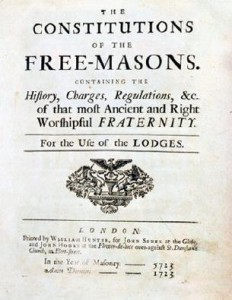 Originalausgabe James Anderson 1723