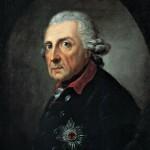 """Friedrich der Große - König und Freimaurer. Stifter der Großen National-Mutterloge """"Zu den drei Weltkugeln""""."""